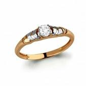 Кольцо со Swarovski Zirconia из золота 585 пробы AQUAMARINE 66438