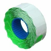 Этикет-лента однострочная Economix 22 x 12 мм, 1000 шт., фигурная, зеленая