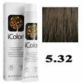 Крем-краска для волос iColori ТОН - 5.32 светло-бежевый коричневый, 90мл (KayPro)