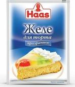 Желе для торта Haas, бесцветное, 50 шт х 11 г