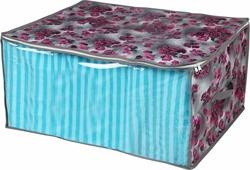 "Короб для хранения Handy Home ""Роза"", складной, цвет: серый, фиолетовый, 60 х 45 х 30 см"
