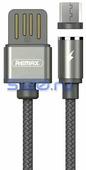 Кабель USB - Micro USB магнитный Remax RC-095m, серый