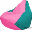 Кресло-мешок Flagman Груша Мега Г3.1-204 бирюзовый/розовый