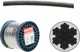 Starfix Трос стальной в ПВХ М12(10) DIN 3055 (бухта 100 м) (SMP-54692-100)