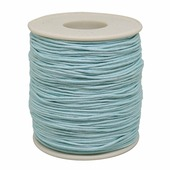 Шнур вощеный, на катушке, цвет: голубой, 1 мм x 100 м