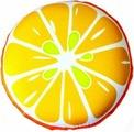 """Подушка антистрессовая Штучки, к которым тянутся ручки """"Смайл-фрукты. Апельсин"""", цвет: оранжевый, 31 x 31 см"""
