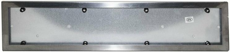 Рамка номерного знака King, серебристый, из нержавеющей стали, 2 шт