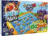 ДанкоТойс Настольная игра 2 в 1 Клевая рыбалка и кинетический песок