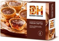 Baker House мини-тарты с карамельно-арахисовой начинкой, 240 г