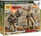 Звезда Сборная модель Советская пехота 1941-1943