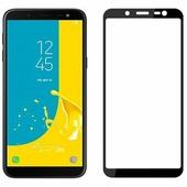 Противоударное защитное стекло на весь экран Full Screen Cover черное Samsung Galaxy A6 (2018)