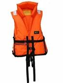"""Жилет спасательный Vostok """"ПР"""" с воротником, цвет: оранжевый, размер 48-52, вес до 80 кг"""