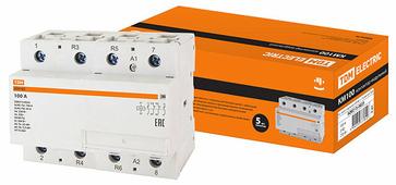 TDM Контактор модульный КМ100/4-100 2НО;2НЗ (SQ0213-0023)