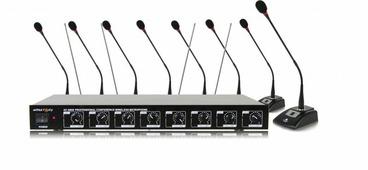 """Arthur Forty AF-8800 конференционная радиосистема с 8 конденсаторными микрофонами на """"гусиной шее"""""""