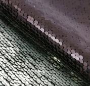 """Ткань для пэчворка с пайетками """"Чёрная-белая"""", 33x33 см, арт. 3891586"""