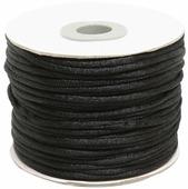 Шнур атласный, для воздушных петель, цвет: черный, 2 мм x 45,7 м