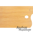 Палитра художественная прямоугольная Capelletto из орехового дерева 25x35 см