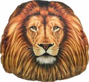 "Подушка на подголовник Gift'n'Home ""Лев"", цвет: коричневый, оранжевый, 30 х 31 см"