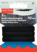 """Лента эластичная """"Prym"""", цвет: черный, 10 мм, 2 м"""