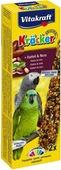 Крекеры для африканских попугаев Vitakraft, с фруктами и орехами, 2 шт