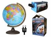 Интерактивный политический глобус с подсветкой от сети, d=32 см Глобусный мир 17009