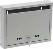 """Ящик почтовый ОТК """"Альянс"""", с замком, цвет: серый, 26,5 х 34 х 6 см"""