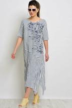 Платье Faufilure 845с синяя полоска