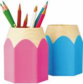 Стакан для канцелярских принадлежностей Карандаш, пластик, 2 цвета (Deli)