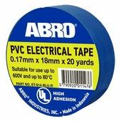 Изоляционная лента ABRO термостойкая, 18 мм, 18,3 м, синий