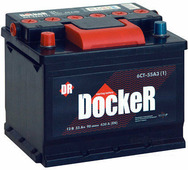 Автомобильный аккумулятор Docker (55 А/ч)