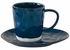 Чашка с блюдцем 250 мл Easy Life (R2S) Interiors (синий) (57422)