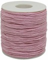 Шнур вощеный, на катушке, цвет: розовый, 1 мм x 100 м