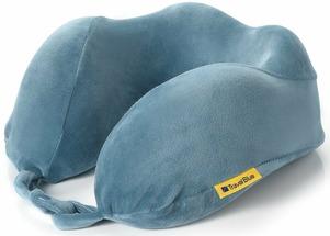 """Подушка для путешествий Travel Blue """"Tranquility Pillow"""", с эффектом памяти, цвет: синий, 28 х 27 х 12 см"""