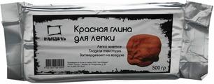 Малевичъ Глина для лепки цвет красный 500 г