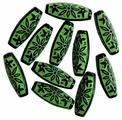 """Бусины """"Астра"""", цвет: зеленый (003), 29 мм х 12 мм, 16 шт. 7701051_003"""