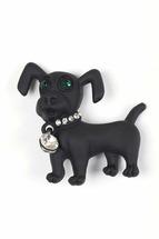 Брошь Fashion Jewelry Собака чёрный