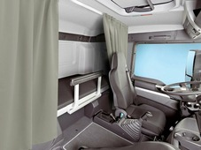 Комплект автоштор Эскар Blackout - auto SK, серо - бежевый, 2 шторы 120 х 160 см, гибкий карниз 3 м