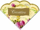 Салфетки бумажные Aster Creative round Элегантность, 3-слойные, 12 шт