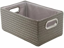 "Короб для хранения ""Handy Home"", складной, без крышки, цвет: серый, 31 х 22 х 19 см"