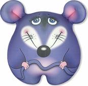 Игрушка-антистресс Штучки, к которым тянутся ручки Мышка Стесняшка малая, символ Нового года 2020, фиолетовая