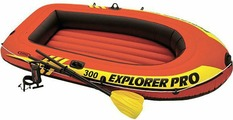 Лодка надувная Intex Explorer Pro 300 Set, 58358NP, с веслами и насосом, до 200 кг, 244 х 117 х 36 см