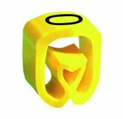 """Маркер закрытого профиля Partex PA-02 на провод 0.2-1.5 мм², символ """"0"""", желтый/черный (катушка 1000 шт.) {PA-..."""