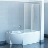 Шторка для ванны Ravak Rosa VSK2 150 R белый+рейн
