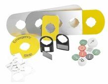 COS Шильдик MA6-1015 для пластикового кнопочного поста ABB, 1SFA611930R1015