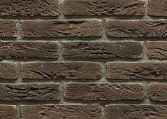 Декоративный искусственный камень Феодал Кирпич Арлонский 25.16, Темно-коричневый