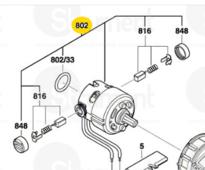 двигатель 14,4 GDR/GDX 14.4 V-Li (2609199507) BOSCH 2609199507