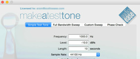 Audio Ease Make A Test Tone