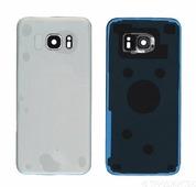 Задняя крышка Samsung G935F Galaxy S7 Edge серебристая