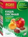 Ясно Солнышко Каша овсяная ассорти с молоком изюм абрикос яблоко, 270 г