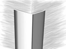 Уголок из нержавеющей стали 151577А зеркальная гладь 250см